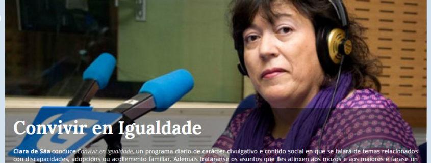 Colaboración de Personas WIP en COnvivir en Igualdade de Radio Galega