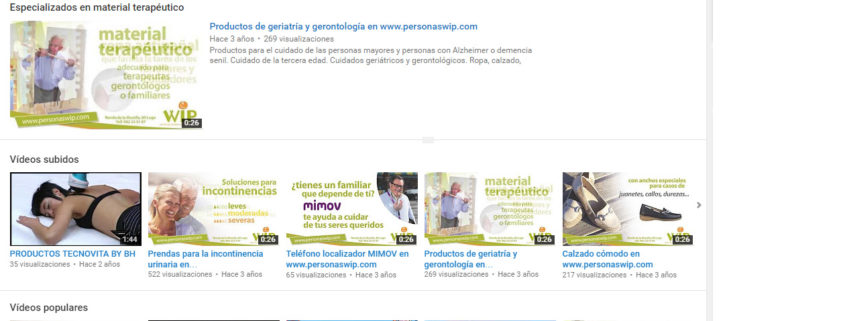 Canal de Youtube de Personas WIP